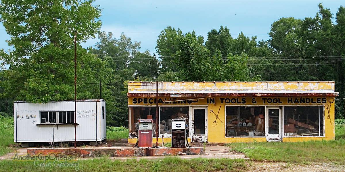 gas station, tool shop