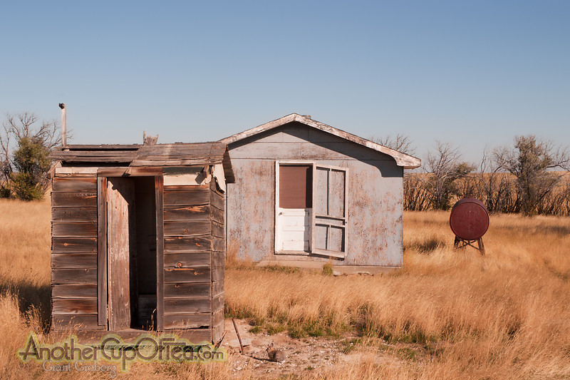 Outhouse, House, Fuel Tank