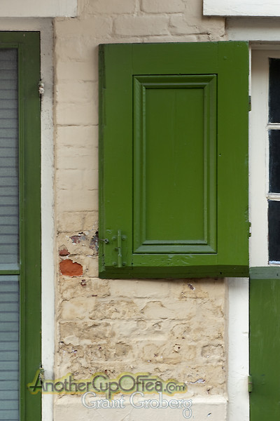 Green Window Shutter - New Orleans