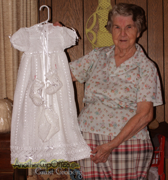 Crocheted Baptismal Dress
