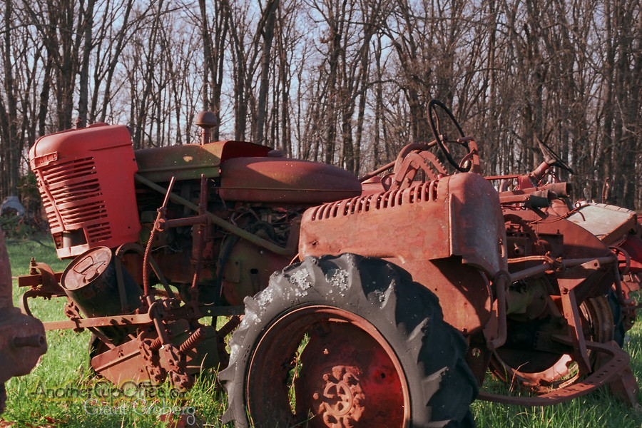 rusting tractor parts