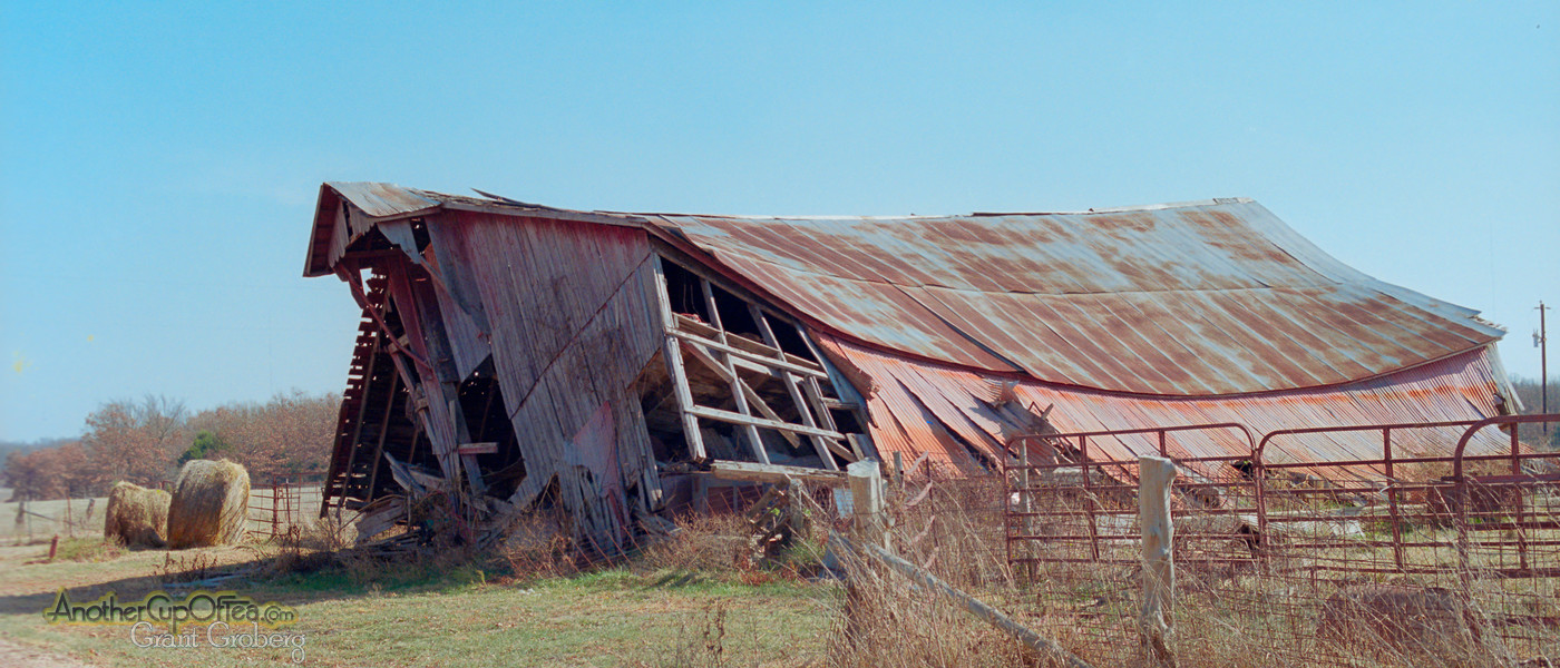 Flattened Missouri Barn