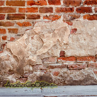 Brick Wall with Stucco